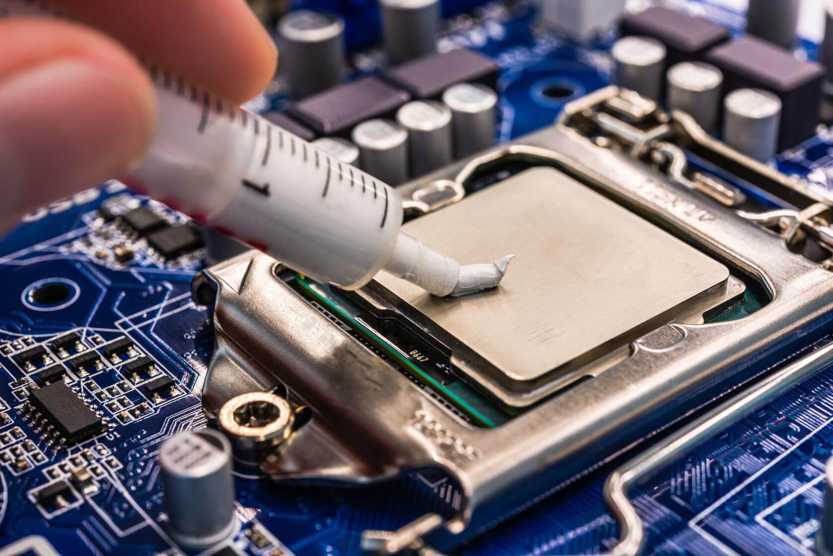 Замена термопасты в системном блоке компьютера